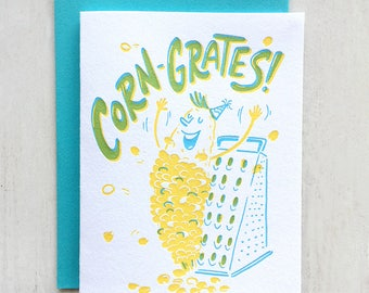 Corn-grates! Letterpress Card