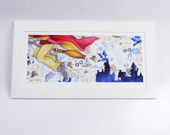 LITTLE WIZARD BOY faerie tale feet limited edition archival print, signed, numbered, and titled by the artist halthegal