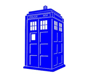 DR WHO TARDIS Quality Vinyl Decal, Police Call Box, Fan gifts