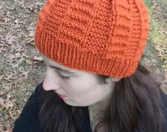 Lovely Orange Knit Beanie