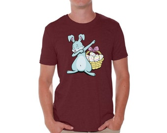 Easter gifts for him etsy dabbing easter bunny shirt for men funny easter bunny tshirt easter gifts for him easter dab negle Gallery