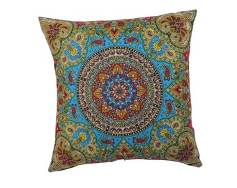 Multi-colored Bandana Pillow Cover - Home Decor