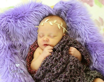 Ivy Leaf Newborn Headband Photo Prop