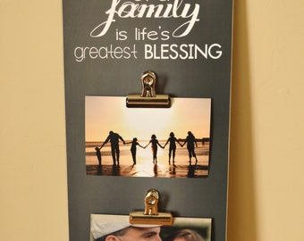 Family Photo Display, Family Picture Frame, Christmas Gift For Family, Family Gift, Housewarming Gift, Wedding Gift, Anniversary Gift Idea