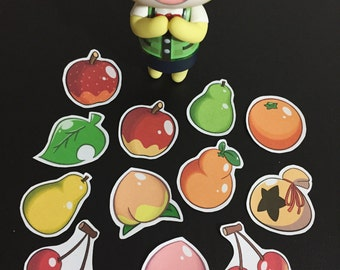 Animal Crossing New Leaf Fruit & More Sticker set