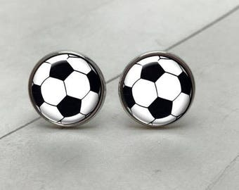 Soccer Cufflinks, Football Cufflinks, Personalized Cufflinks