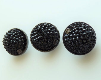 Chanel Black Spikes Button Small CC 16mm New  / Price is for one button
