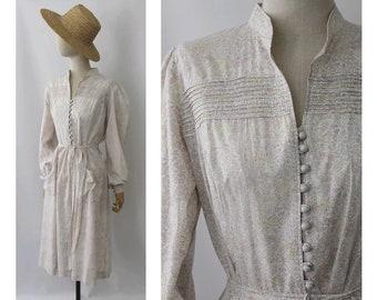 Robe vintage à fleurs Liberty / 1970 s floral robe en coton liberty Print Dress