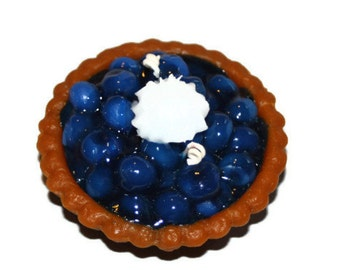 Blueberry Pie Candle, Bakery Candle, Wax Fake Food, Blueberry Scented Candle, Realistic Blueberry Pie Candle, Dessert Candle, Home Decor
