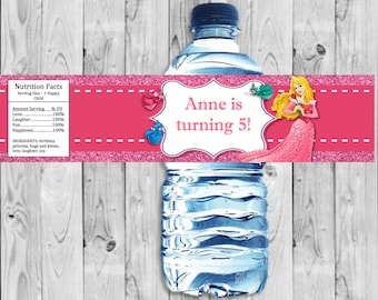 Sleeping Beauty, Aurora Bottle Label