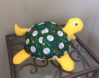 Golf Handmade Stuffed Turtle