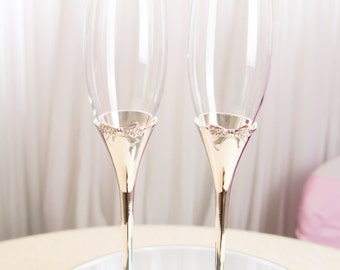Crystal Bow Champagne Glass for Wedding
