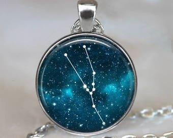 Taurus Constellation necklace, constellation jewelry constellation pendant Zodiac constellation pendant Taurus necklace key chain key ring