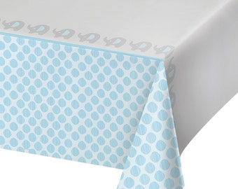 Little Peanut Blue Elephant Tablecover Baby Shower Table Cloth Tableware Party Supplies