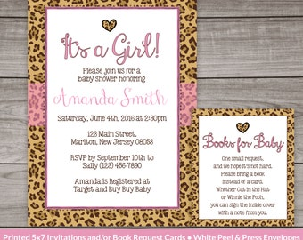 Cheetah baby shower etsy cheetah print baby shower invitation for a girl leopard baby shower invitation cheetah pattern filmwisefo Gallery