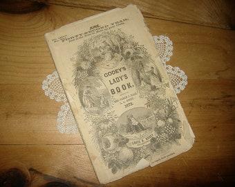 Antique 1872 Godey's Lady's Book. edited by Mrs. Sarah J. Hale, L. A. Godey • Vol. LXXXIV • No. 504