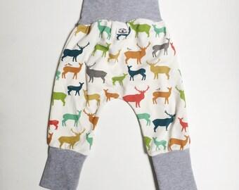 Grow with Me Harem Pants - Harem style - rainbow elk