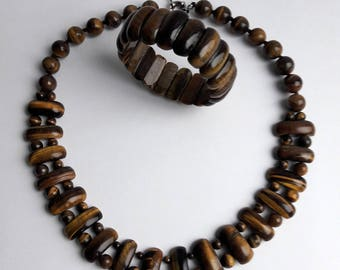 Tigers eye jewelry set | tiger eye bracelet |  tiger eye necklace  | gift | hand made jewelry