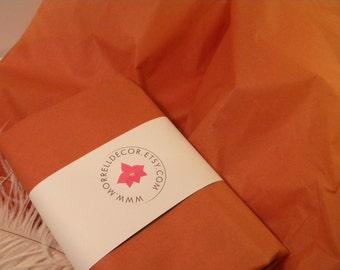 "Tissue Paper Bulk Rust Terracotta Orange / 48 Sheets / 20"" X 30"" / Fall Color / Craft Supplies / DIY Pom Poms or Garland"