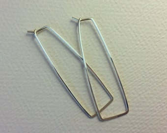 Rectangle Hoops - Sterling Silver, 14K Yellow Gold Fill, or 14K Rose Gold Fill