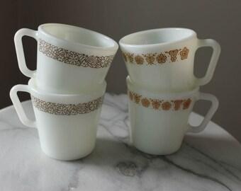 Set of 4 Vintage 300mL Pyrex Mugs - Vintage Pyrex