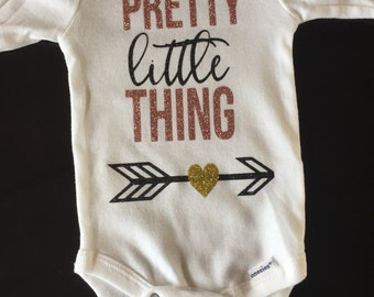 Pretty Little Thing baby body suit, coming home outfit, baby announcement, baby shower gift, one-piece, body suit