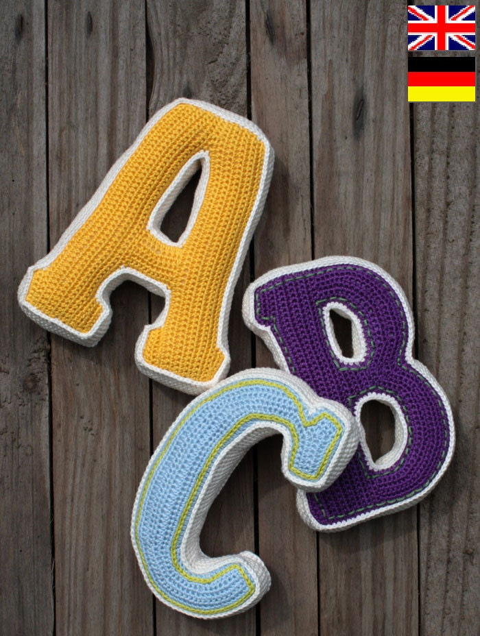 Attractive crochet letter patterns free illustration sewing 3d letter crochet pattern pdf pattern for one letter pdf thecheapjerseys Images