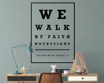 JW Wall Decal - Walk By Faith Not By Sight
