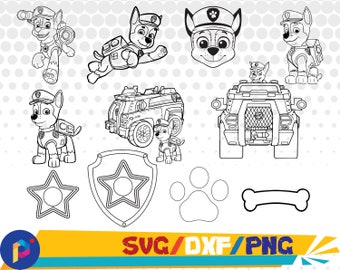 Chase svg,dxf,png/Paw Patrol svg,dxf,png/Paw patrol clipart for Silhouette,Cricut,Design,Print and any more