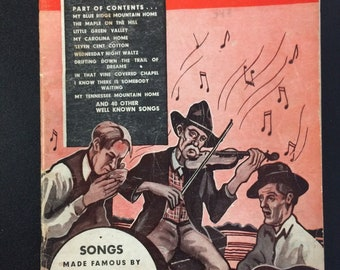 Tip Top Album Of Carson J. Robison Songs - Vintage Song Book