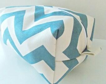 Chevron Bag - Make up Bag  - Cosmetic Pouch -  Lunch Bag - Wet Bag - Waterproof Bag