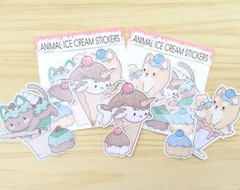 Animal Ice Cream Sticker Pack