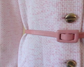 Vintage Pink Jackie O Dress with Belt size XL Extra Large