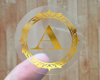 Initial Letter - Gold Foil Labels - Sticker - Seal - #22