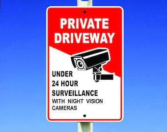 Security Surveillance Aluminum Sign