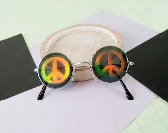 Hologram glasses - peace & love