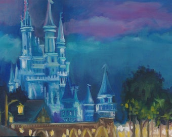 After the show, oil painting, disney painting, original art