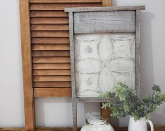 Vintage washboard, home decor, laundry decor, laundry, washboard, wall art, decoration, old style