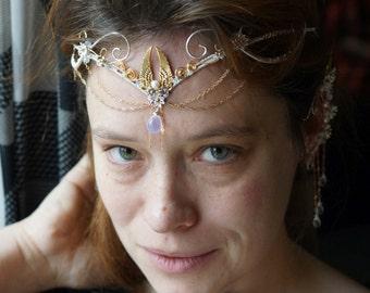 Tiara bridal.  Diadem, Elven tiara, elven circlet,  Elvish tiara, elven crown