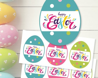Happy Easter Bunny Bait Gift Tags Printable Digital Download