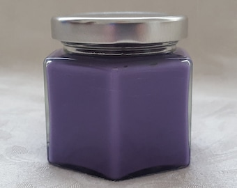 Lavender Candle - 4oz Gift Size Soy Candle Jar - Purple Candle - Best Scented Candle - All Natural Soy - Wedding Favor - Flower Candle