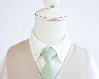 Necktie, Neckties, Boys Tie, Baby Tie, Baby Necktie, Wedding Ties, Ring Bearer, Boys Necktie, Ties, Rifle Paper Co - Champagne Mint