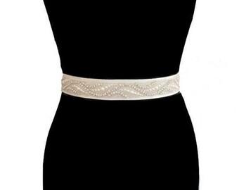 Crystal Bridal Sash, Bridal Belt, Wedding Dress Belt, Crystal Sash,  Beaded Sash, Bridal Wedding Dress Belt, Crystal Embellished Belts,