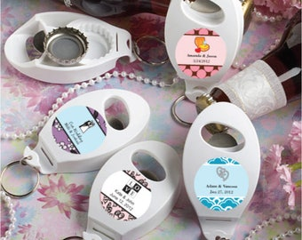 35 Personalized Bottle Opener/Key Chain Favors- Set of 35