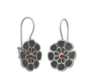 poppy-flowers-silver-earrings-ancient-greek-inspiration-romantic-jewellery-art-nouveau-greek-design