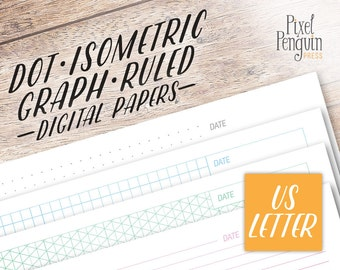 A5 Planner Inserts Dot Grid Paper Graph Paper Printable