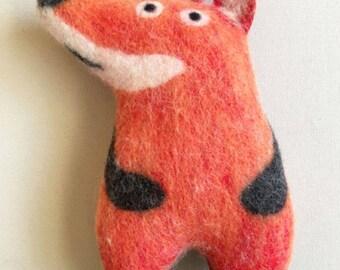 Cozy Fox, wet felted stuffed animal, handmade, soft art toy, soft sculpture, eco friendly home or nursery decor