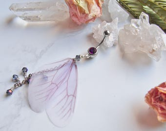Fairy Wing Dangle Belly Navel Ring