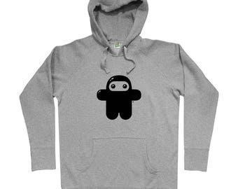 Wee Ninja Hoodie - Men S M L XL 2x 3x - Shawnimals Hoody Sweatshirt - Ninjatown, Cute, Gift - 3 Colors