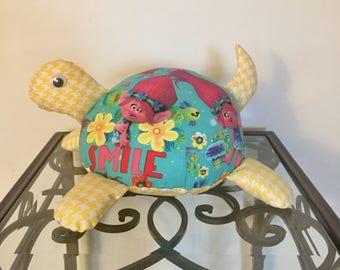 Trolls Handmade Stuffed Turtle